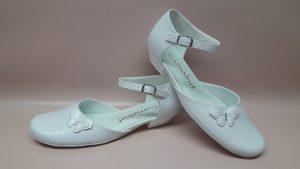 208 – Buty komunijne dziewczęce z motylkiem