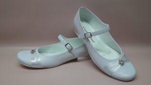 325 Dziewczęce buty komunijne z cyrkoniami