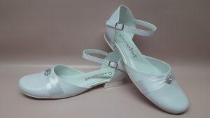 326 Komunijne buty dziewczęce z cyrkonią